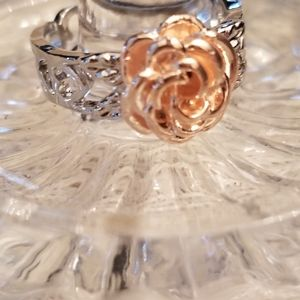 Silver and Gold Rose Ring (LAST ONE)